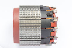 The stator of the electric motor stock photos
