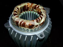 Stator with winding of an electrical motor stock images