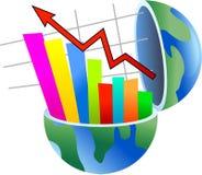 stats глобуса Стоковое Изображение RF