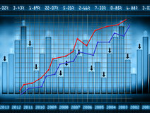 Stats. Report, finance graph,economy Royalty Free Stock Images