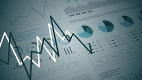 Statistics, financial market data, analysis and reports, numbers and graphs. Stats analysis reports and financial data 3D. Ideal for financial, banking royalty free illustration
