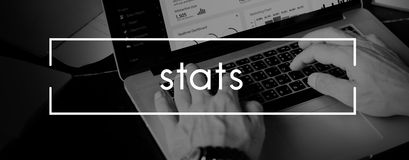 Stats Analyze Commerce Economic Finance Sales Concept Royalty Free Stock Image
