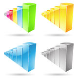 Stats Bars Icons Stock Image