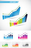 Stats Bars Royalty Free Stock Photography