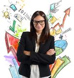 Stats businesswoman Stock Image