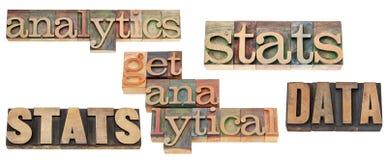 Stats, dados, analítica Foto de Stock