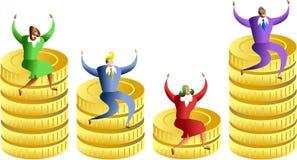Stats do dinheiro Fotografia de Stock Royalty Free
