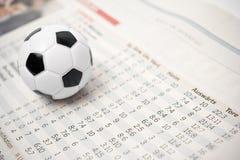 Stats do futebol Fotografia de Stock