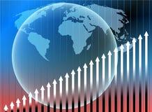 Stats do globo ilustração stock
