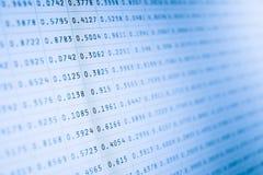 Stats do mercado no ecrã de computador Imagens de Stock Royalty Free