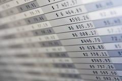 Stats do mercado no ecrã de computador Fotos de Stock Royalty Free