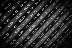 Stats do mercado no ecrã de computador Foto de Stock