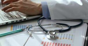 Stats dos cuidados médicos e planeamento financeiros do orçamento video estoque