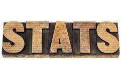 Stats en el tipo de madera con números Imágenes de archivo libres de regalías