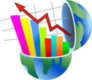 Stats globe Royalty Free Stock Image