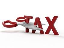 Stats- skatte- avkoppling stock illustrationer