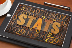 Stats (statistics) word  and numbers Stock Photo