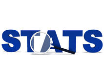 Stats Word Shows Statistics Report Reports Or Analysis Royalty Free Stock Photo