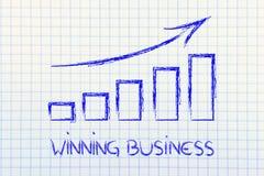 Statsgrafiek die de groei en positieve resultaten tonen Stock Afbeelding