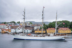 STATSRAAD LEHMKUHL在卑尔根,挪威 免版税图库摄影