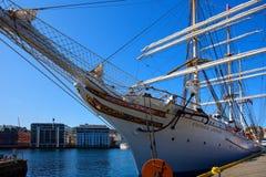 Statsraad Lehmkuhl tall sailing ship Stock Image