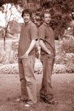 Stattliche Brüder Stockfoto