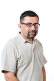 Stattliche Mitte gealterter fälliger indischer Geschäftsmann stockbild