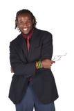 Stattlicher afrikanischer Geschäftsmann Lizenzfreie Stockfotos