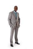 Stattlicher afrikanischer Geschäftsmann Stockbilder