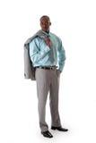 Stattlicher afrikanischer Geschäftsmann Stockfoto