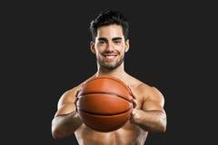 Stattlicher Basketball-Spieler Stockbilder