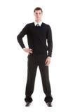 Stattlicher ernster Mann in der formalen Kleidung Stockfotos