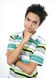 Stattlicher junger asiatischer Kerl 9 stockbild