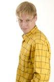 Stattlicher junger Mann mit Gläsern Lizenzfreies Stockbild