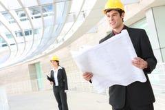Stattlicher Mann-Architekt Lizenzfreies Stockbild