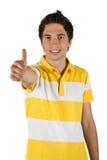 Stattlicher Mann mit dem Daumen oben Lizenzfreies Stockbild