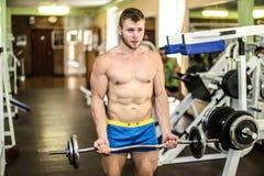 Stattlicher muskulöser Kerl Stockbilder