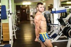 Stattlicher muskulöser Kerl Stockfoto
