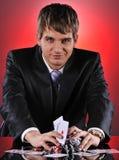 Stattlicher Schürhakenspieler Lizenzfreies Stockfoto