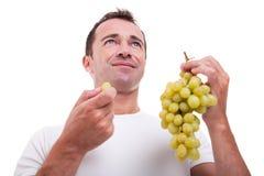 Stattliches Fleisch fressendes grüne Trauben, stockfoto