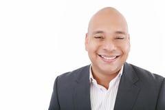 Stattliches Geschäftsmannlächeln stockbilder