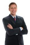 Stattliches junges Geschäftsmann-Portrait Stockfoto