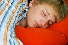 Stattliches Schlafen des jungen Mannes Stockfoto