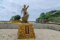 Statu在片断海岛,基隆,台湾台湾 免版税图库摄影