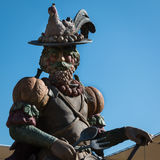 Statua Świętuje jedzenie w Arcimboldo& x27; s styl fotografia stock