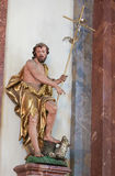 Statua święty John baptysta Zdjęcia Stock