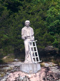 Statua święty Lawrance, St Lawrance rzeka CA Fotografia Royalty Free