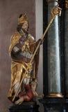 Statua święty, sanktuarium St Agatha w Schmerlenbach Obrazy Royalty Free
