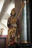 Statua święty, sanktuarium St Agatha w Schmerlenbach, Niemcy Obraz Stock