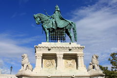 Statua święty Stephen I. zdjęcia royalty free